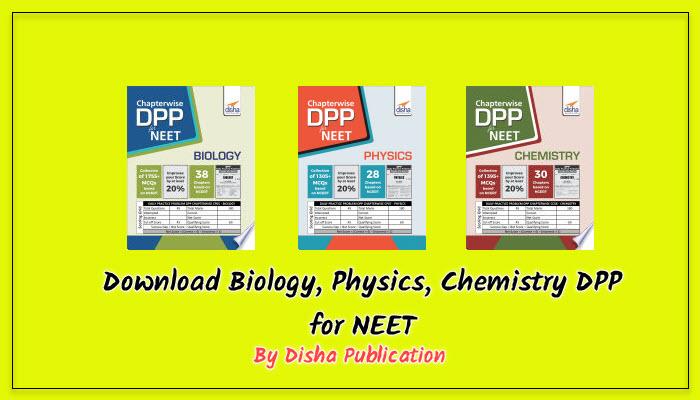 neet dpp by disha publications download free